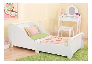 KidKraft Toddler Sleigh Bed In Pink