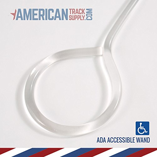 Poly Wand (5') (Hook ADA) - Clear Acrylic ADA Curtain & Drapery Wand with stainless steel hook (single)