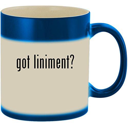 got liniment? - 11oz Ceramic Color Changing Heat Sensitive Coffee Mug Cup, Blue