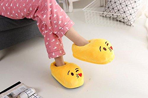 YINGGG Emoji Slippers Plush Fluffy House Shoes (Kiss) - Image 6