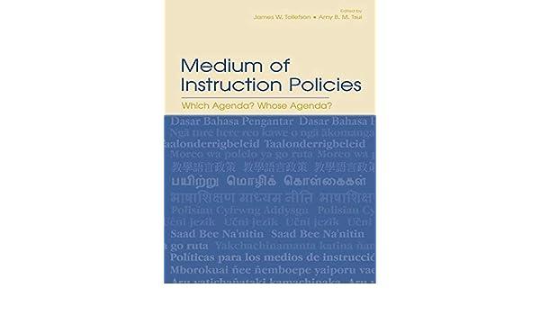 Amazon.com: Medium of Instruction Policies: Which Agenda ...
