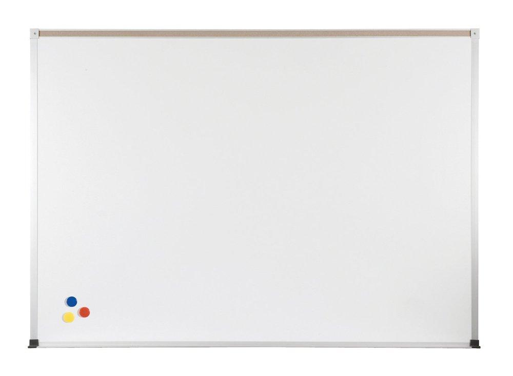 Marsh Pro-Lite 48''x48''Beige Porcelain Markerboard, Contractor Aluminum Trim / 1'' Map Rail