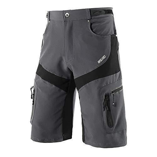 Lixada Mens Mountain Bike Biking Shorts,Cycling Shorts Quick Drying Breathable Outdoor Sports Running Bike Riding Casual Shorts with 6 Pockets from Lixada