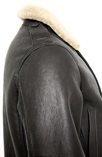 Hommes Marron Peau de mouton Guerre mondiale 2 Veste en cuir volant