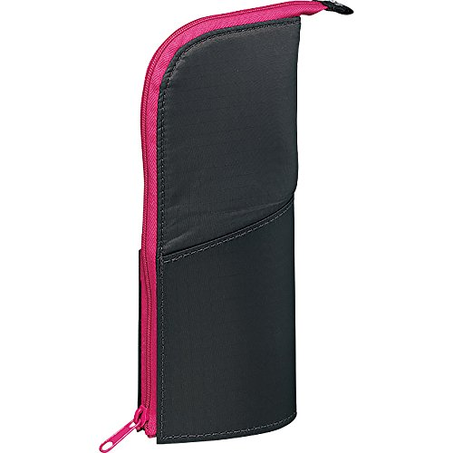 Kokuyo NeoCritz Transformer Pencil Case - Dark Gray / Pink (japan import)