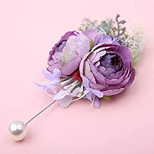pankdream Artificial Suit Men's Flowers Camellia Flower Wedding Flowers Accessories Prom Suit Decoration Boutonniere Buttonholes Groom Groomsman Pin from 23