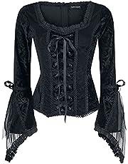 Gothicana by EMP Rosemary Shirt met lange mouwen zwart Basics, Gothic