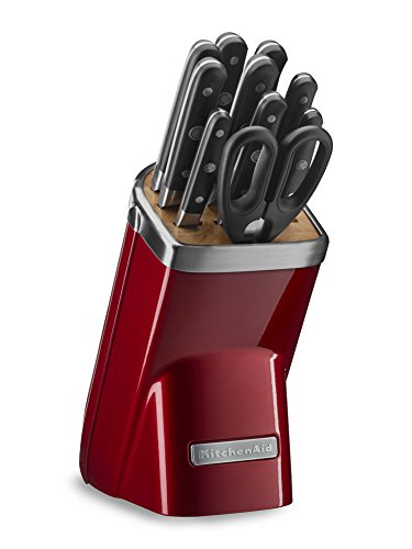 (KitchenAid KKFMA11CA Professional Series 11 Piece Cutlery Set, Candy Apple Red)