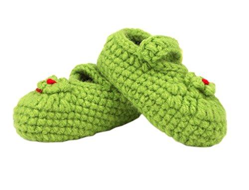 Tamanho Bigood Verde Tricô Tricô Padrão Sapato Doce Um Coração De Deco Sapatos Centímetros 11 Bebê De Unisex rTrfa8wq