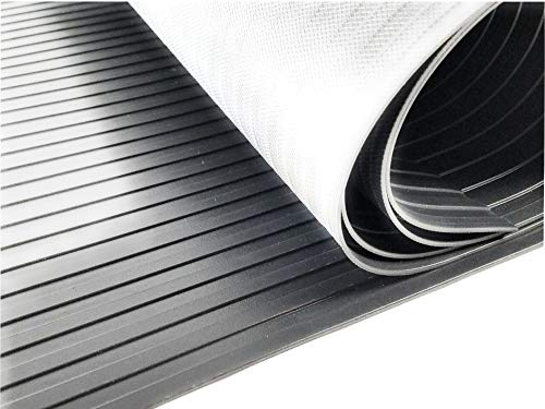 - Resilia - Treadmill Mat, Heavy Duty Ribbed Exercise Equipment Mat for Hardwood Protection from Stationary Bike, Elliptical and Rowing Machine, 36 Inches X 78 Inches, Black, Made in USA …