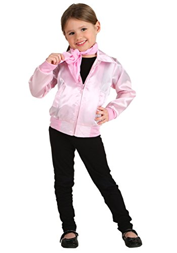 Pink Ladies Kids Costumes (Little Girls' Grease Pink Ladies Jacket 4T)