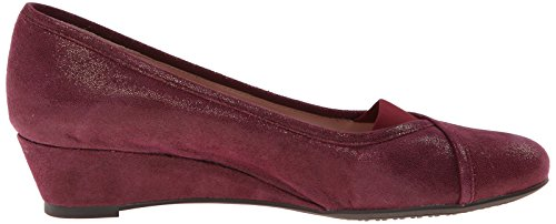 Taryn Rose Womens Peta Flat Beet Red Dot Suede U2i50RK