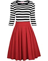 Belle Poque Women's Scoop-Neck Stripes...