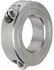 """Climax Metal 2C-100-S T303 Stainless Steel Two-Piece Clamping Collar, 1"""" Bore Size, 1-3/4"""" OD, with 1/4-28 x 5/8 Set Screw"""