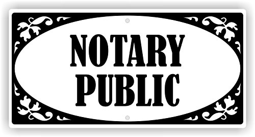 Notary Metal (Notary Public aluminum sign 6