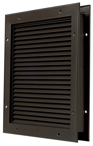 National Guard L700Bfdkb24X18 No Vision Louver Dark Brz, 24'' x 18'' by National Guard