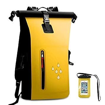 25L Waterproof Dry Bag Backpack with Splashproof Zip Pocket Shoulder Strap d451acf7c5ac5