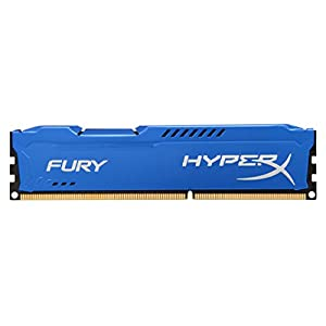 Kingston HyperX FURY 8GB 1600MHz DDR3 CL10 DIMM - Blue (HX316C10F/8) 41 ea9UXrrL. SS300