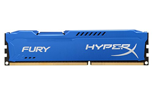 HyperX HX316C10F FURY – Memoria DDR3, 8GB, 1600MHz, CL10 240-pin, UDIM, color Azul