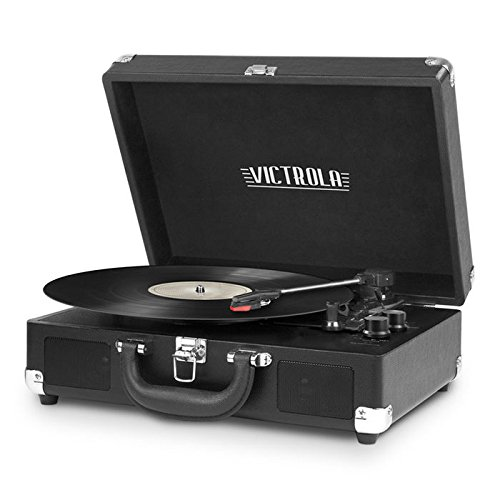 Victrola Full Size Bluetooth Record Player with CD and 3-Speed Turntable