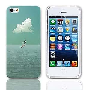 ¿Quieres volar Caso duro del diseño con paquete de 3 protectores de pantalla para iPhone 5/5S