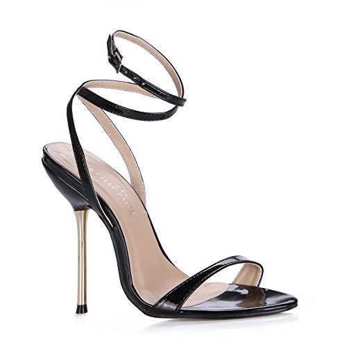 Show banquet night life of iron with fine with the high-heel shoes female sandals Pale Gold G7FJ20Rxq