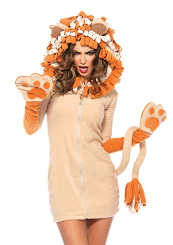 Leg Avenue Women's Cozy Lion Costume, Brown,