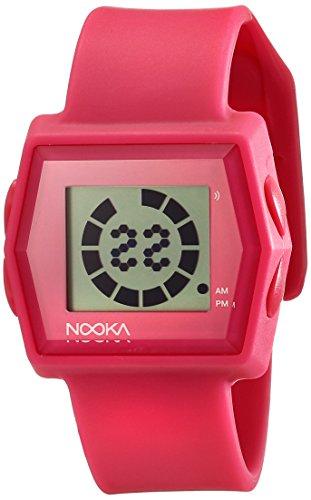 Nooka Unisex ZUBZIBIZIRCPK Digital Display Quartz Pink Watch