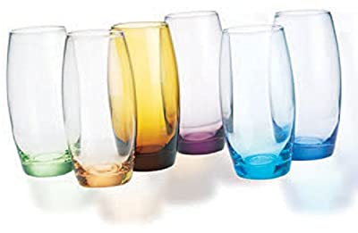 Home Essentials Multi-Colored Oval Cordial Shot Glass, Set of 6, Multicolor
