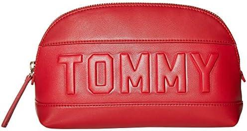 トミーヒルフィガー チアラ スムースPVC化粧バッグ トミーレッド ワンサイズ