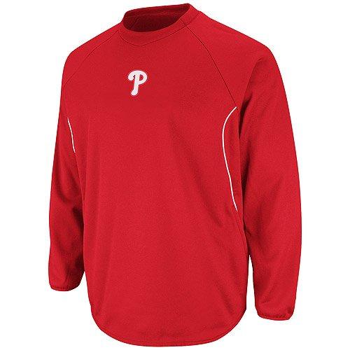 MLB Philadelphia Phillies Youth Featherweight Therma Base Tech Fleece, Small, (Therma Base Red Fleece)