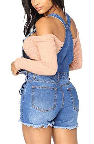 Monos Rotos Hell Ropa De Peto Skinny Verano Fiesta Fashion Jeans Mujer Straps Ajustable Vaqueros Vintage Overall Denim Blau Elásticos Elegantes pp8ATSUO