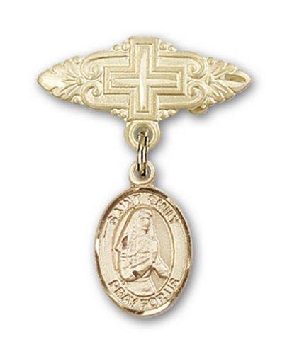 Icecarats Or Bijoux De Créateurs Rempli R. Émilie De Vialar Charme Pin Badge Avec Croix 1 X 3/4