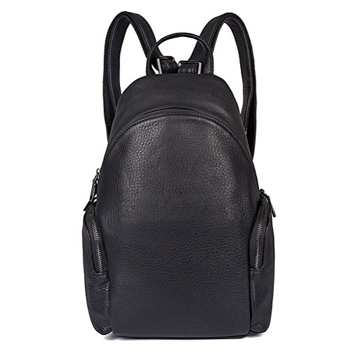 Gtuko Jmd Selection Of Classic High Quality Genuine Leather Backpacks Travel Bags Large Capacity Double Shoulder Bag For Men 2013a, Black Black
