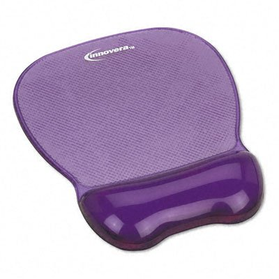 Innovera : Gel Mouse Pad with Wrist Rest, Nonskid Base, 8-1/4 x 9-5/8, Purple -:- Sold as 2 Packs of - 1 - / - Total of 2 Each ()