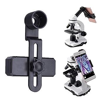 CCChaRLes Adaptador De Lente De Microscopio Teléfono Móvil ...