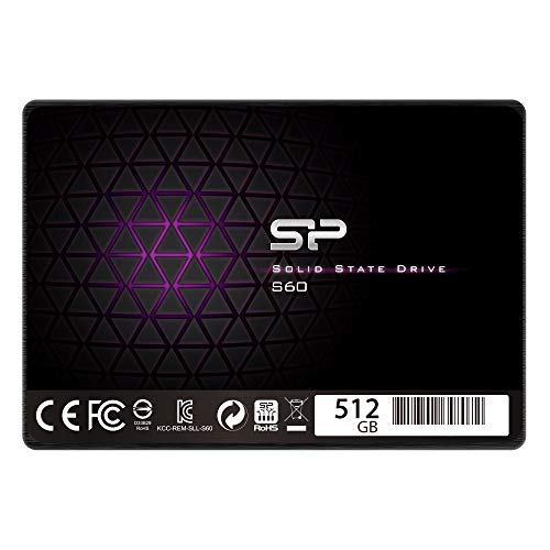 Silicon Power 512GB SSD MLC S60 SATA III 2.5'' 7mm (0.28'') Internal Solid State Drive (SP512GBSS3S60S25AE) by Silicon Power