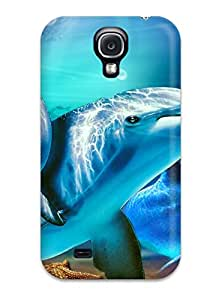 Special Design Back Dolphins Phone Case Cover For Galaxy S4
