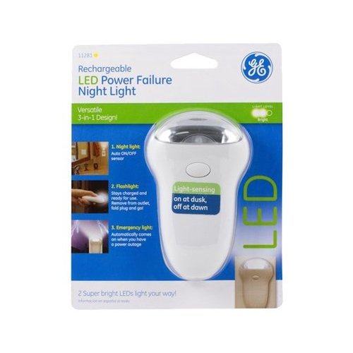 Ge 11281 Power Failure Night Light With Rechargeable Led - 3