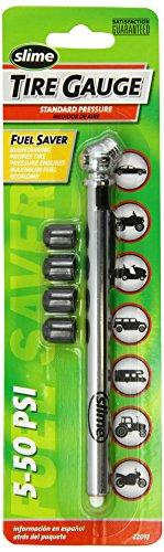 Cap 22013 (Slime 22013 Pencil Tire Gauge with Bonus Caps, 5-50 PSI)