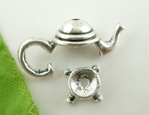 Housweety Silver Teapot Findings 21x9mm