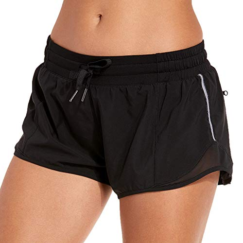 CRZ YOGA Women's Workout Running Sports Shorts with Pocket - 2.5 inch