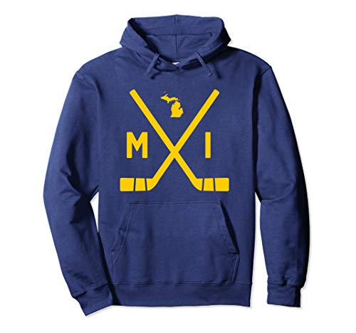 - Vintage Michigan Ice Hockey Sticks State Outline Hoodie