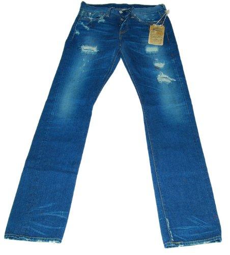 Ralph Lauren RRL Mens Japan Selvedge Slim Bootcut Blue Denim Jean Pant USA 30/34