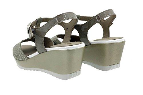 Grecia Sandales Piesanto Visón Chaussure À Femme Talon 180980 Compensé Confort 4n8PqBn