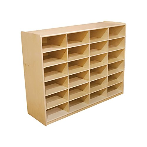"""Wood Designs WD18649 (24) 5"""" Letter Tray Storage Unit without Trays"""