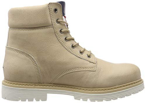Denim Beige Iconic Hilfiger Chukka Jeans Nubuck 024 Natural Boot Uomo Stivali Tommy Bdxw7qOxf