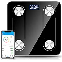 Body Fat Scale Bathroom Weight Scale Smart Digital Wireless Bluetooth Scale BMI Monitor Analyzer, 12 Body Composition Measurement,USB Rechargeable,Smartphone APP
