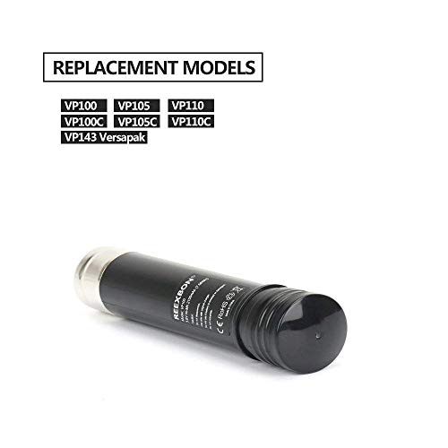 REEXBON [2 Pack] 3.6V 2.1Ah NiMh Versapak Battery Replacement Compatible with Black & Decker Versapak Gold VP100 VP105 VP110 VP130 VP143 VP730 VP7240 151995-03 383900-03 387854-00 Scumbuster S100 S110