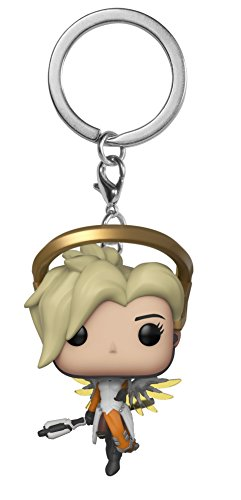 Overwatch Chaveiro Mini Boneco Pop Funko Mercy